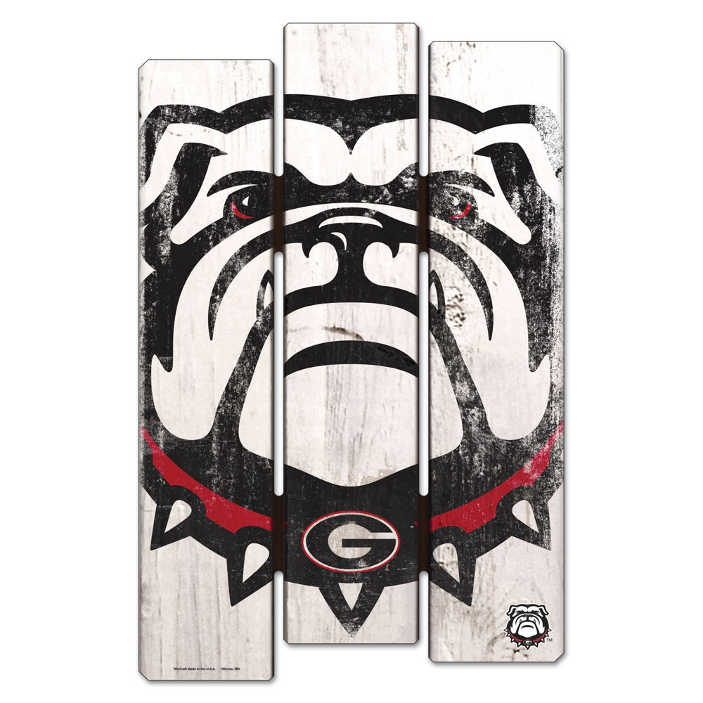 Georgia Bulldogs Official NCAA 11 inch  x 17 inch  Wood Fence Sign by Wincraft