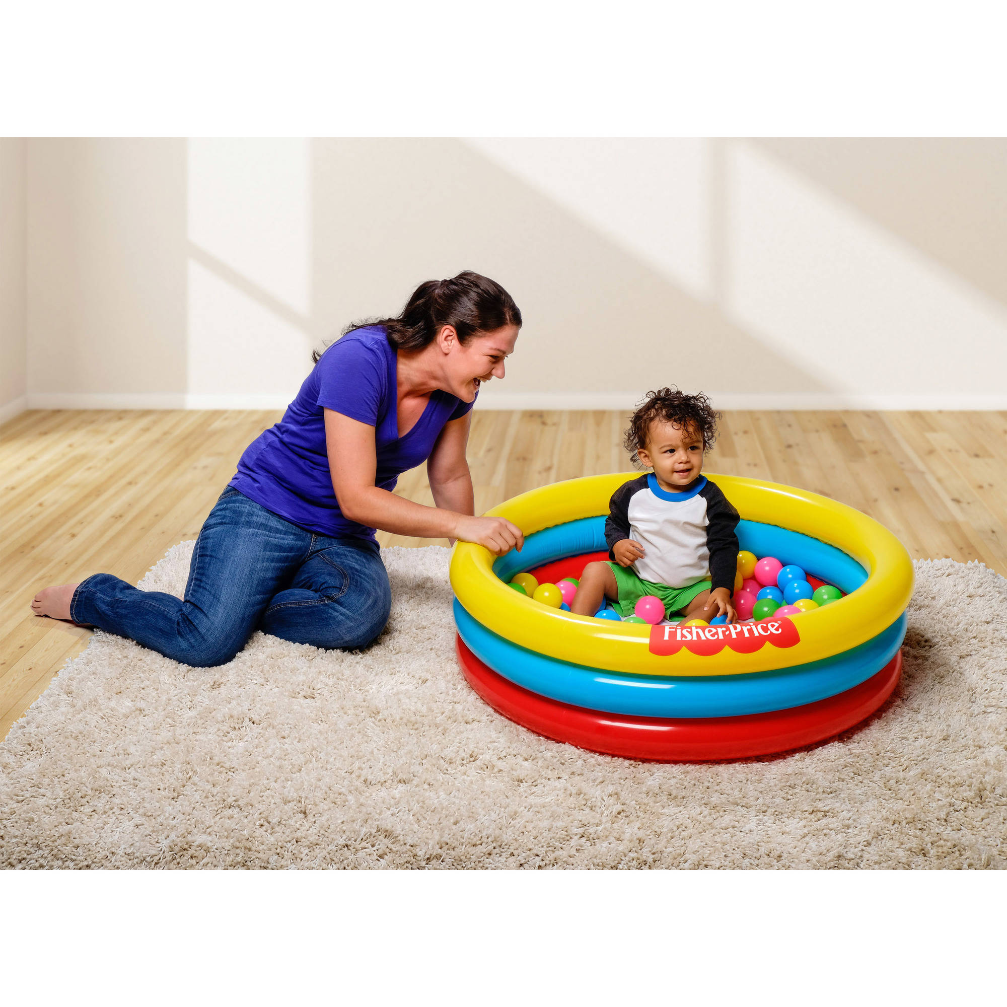 "Fisher-Price 3-Ring Ball Pit Pool, 36"" x 36"" x 10"""