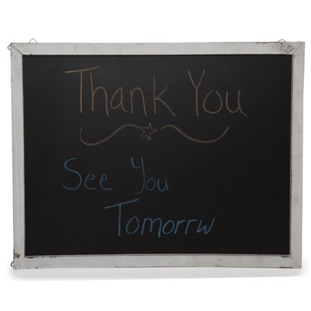 Large Chalk Board (Wooden Chalkboard Display Sign for Wall - Large)