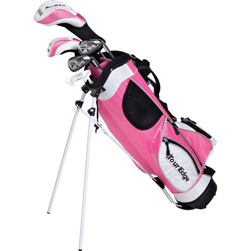 Tour Edge Golf HT Max-J Jr 2x1 Golf Club Set, Pink by Tour Edge Golf