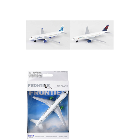 Jetblue  Delta  Frontier Airlines Diecast Airplane Package   Three 5 5  Diecast Model Planes
