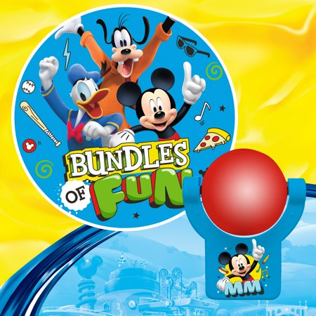 Projectables Disney's Mickey and the Roadster Racers Plug-In Night Light, Mickey, Donald, and Goofy Image, 11743