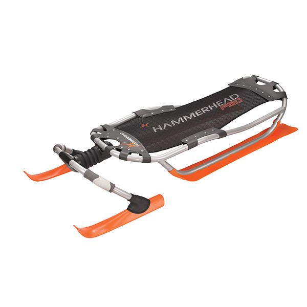 Yukon Charlie's Hammerhead Pro Snow Sled Orange Black by Kwik Tek