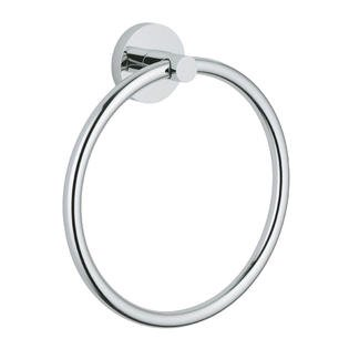 Wall Mounted Small Towel Ring (Plaza Wall Mounted Towel Ring Holder Hotel Collection, Polished Chrome )