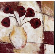 Red Flowers II by Dan McShane, Canvas Wall Art, 24W x 24H