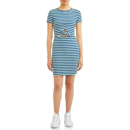 Eye Candy Juniors' T-Shirt Tie Front Dress (Candy Wrapper Dresses Halloween)