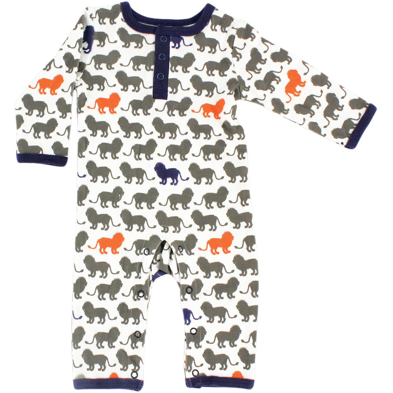 Yoga Sprout Newborn Baby Boys Union Suit - Lion
