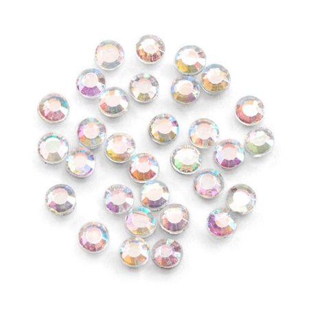 Value Pack Hot Fix Glass Stones Crystal AB 5mm 400 pcs