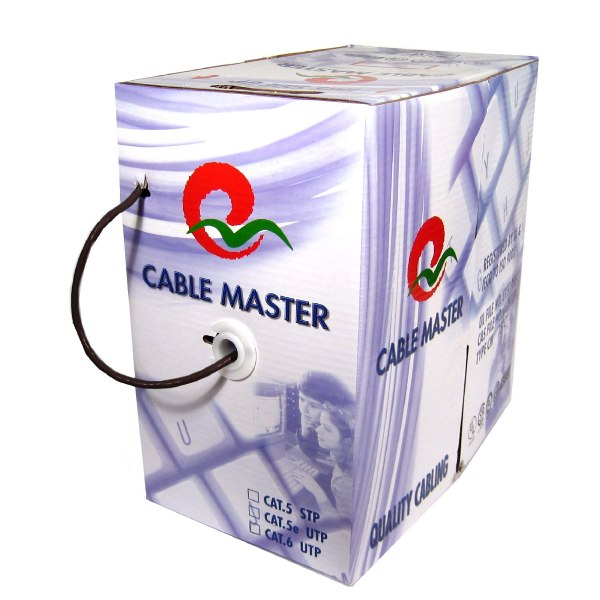 1000' Stranded - CAT5e (350 MHz) Network Cable - FT4/CMG - Black - TechCraft - image 1 of 1