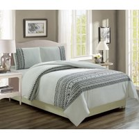 Renata Black/White Reversible Comforter Set