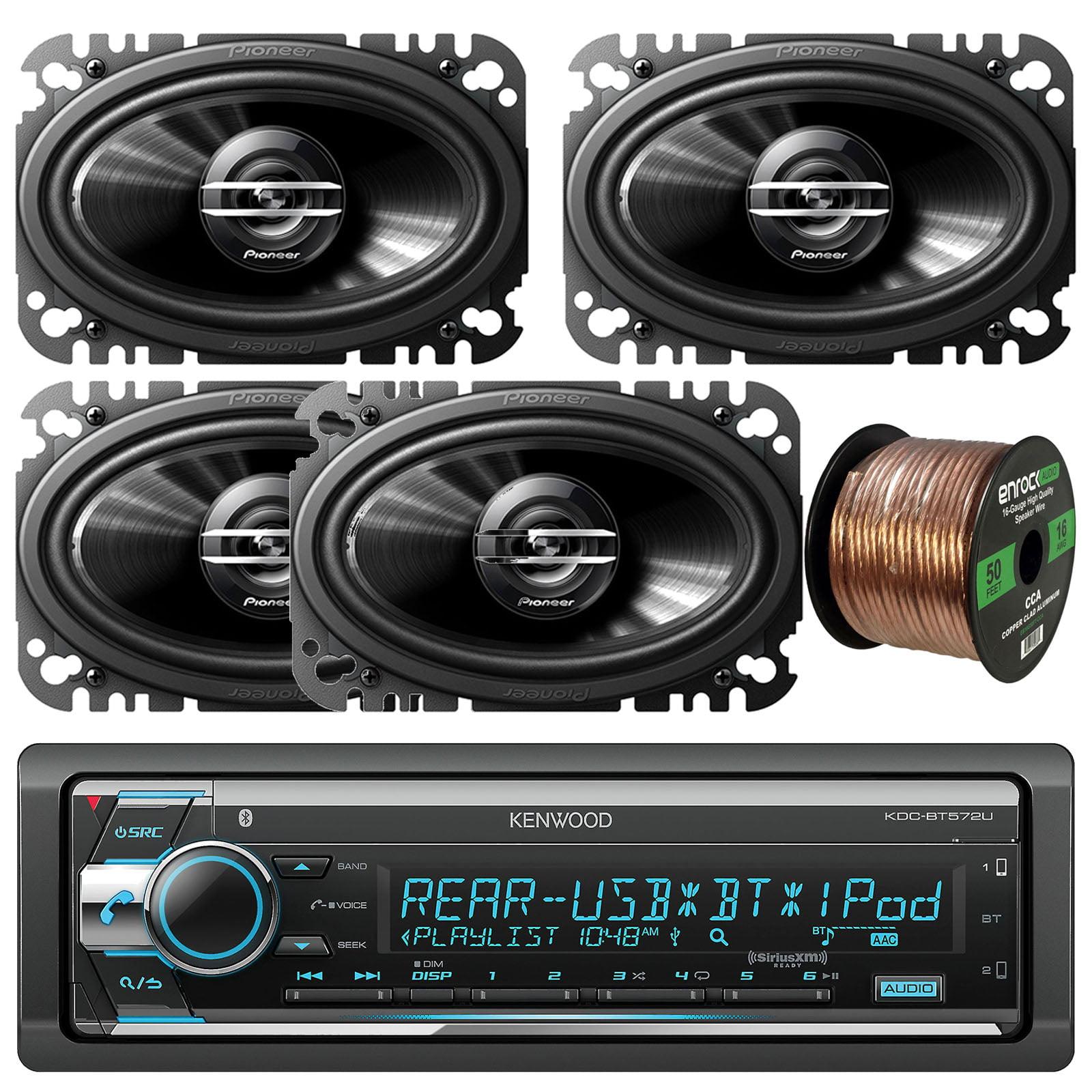 Kenwood Kdc Fm Bluetooth Radio Stereo Receiver With Pioneer Tsg4620s