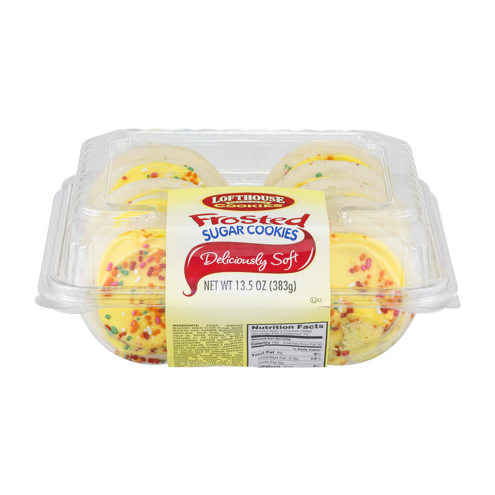 Lofthouse Frosted Sugar Cookies - 10 CT