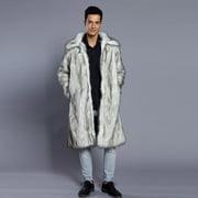 Fashion Mens Warm Thick Overcoat Coat Jacket Faux Fur Parka Outwear Cardigan
