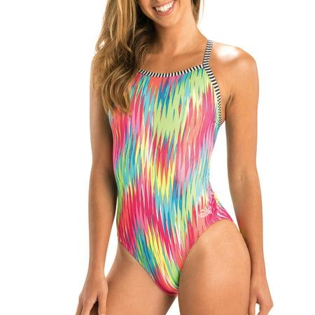 Dolfin Uglies Halloween Suit (Dolfin Uglies Women's Print V-2 Back Swimsuit in Fizzy, Size)