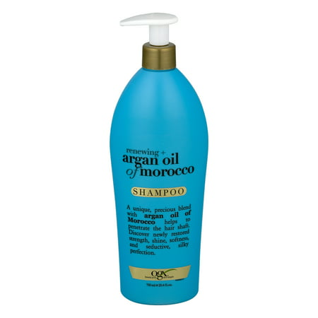 OGX Salon Size Renewing Argan Oil of Morocco Shampoo 25.4oz with (Best Shampoo For Hard Water In India)