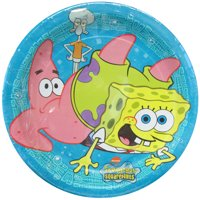 SpongeBob SquarePants Paper Snack/Dessert Plates, 8 Count