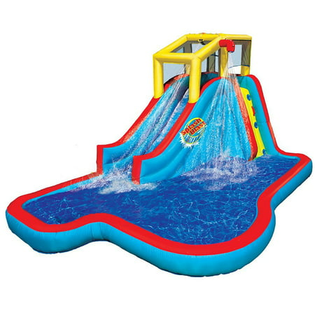 Banzai Slide N Soak Splash Park Kids Inflatable Outdoor Backyard Water Park