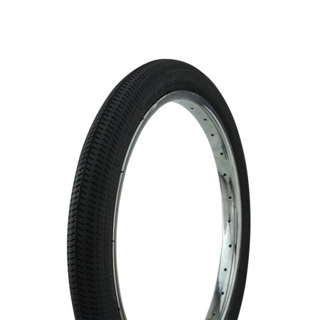 "Bicycle Tire 18"" x 1.95"" BMX Bike Street Thread P-1208, Various Colors (Black)"