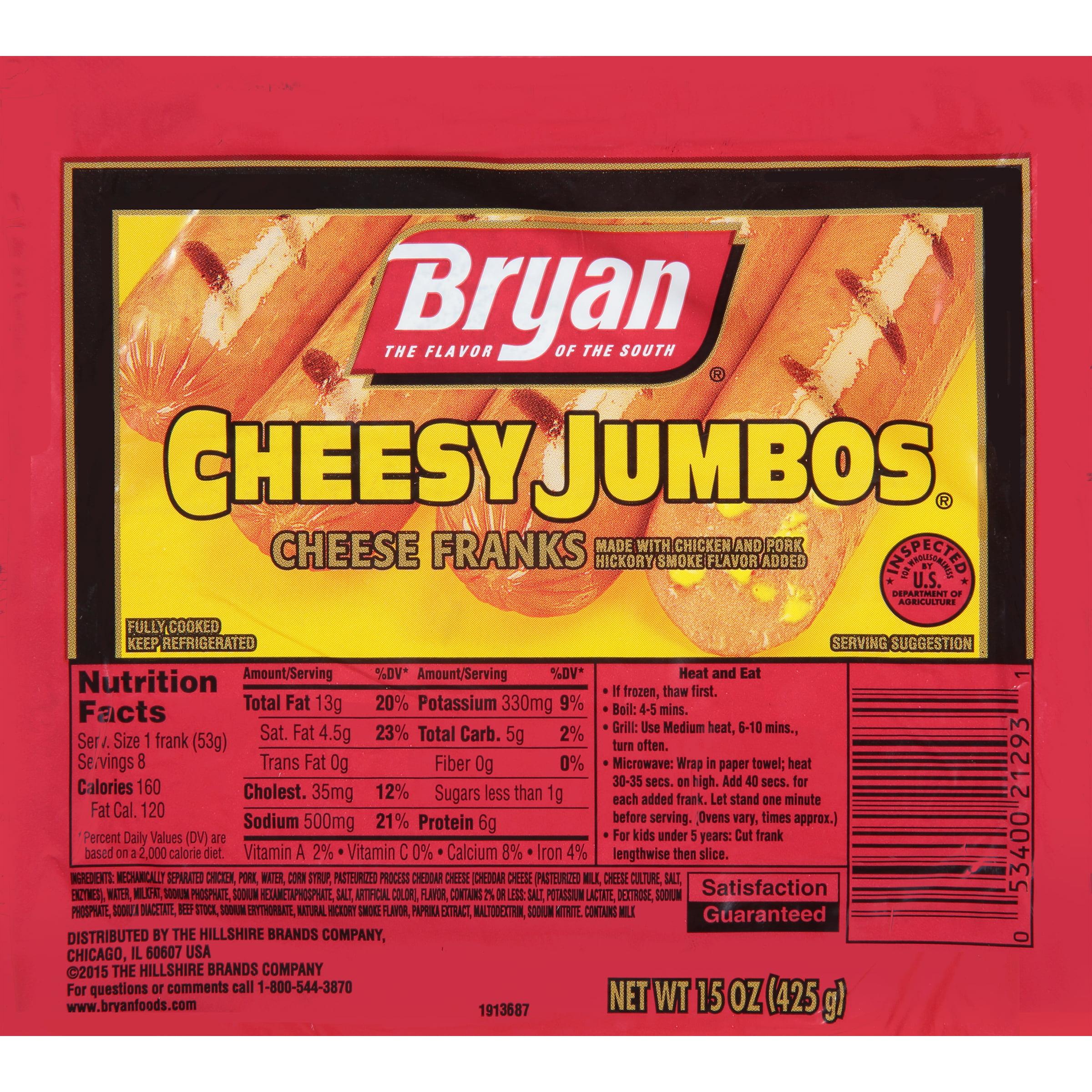 Bryan® Cheesy Jumbos® Cheese Franks, 8 Count