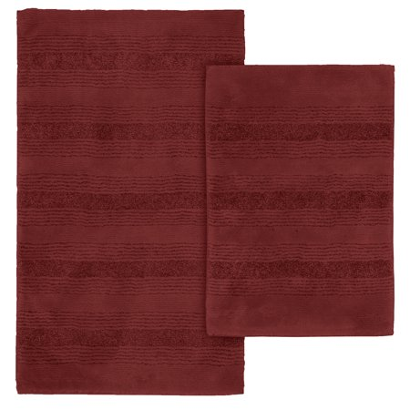 essence chili red nylon washable bathroom rug set. Black Bedroom Furniture Sets. Home Design Ideas