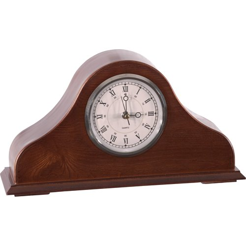 American Furniture Classics Remington Mantel Clock in Burnished Brown Cherry