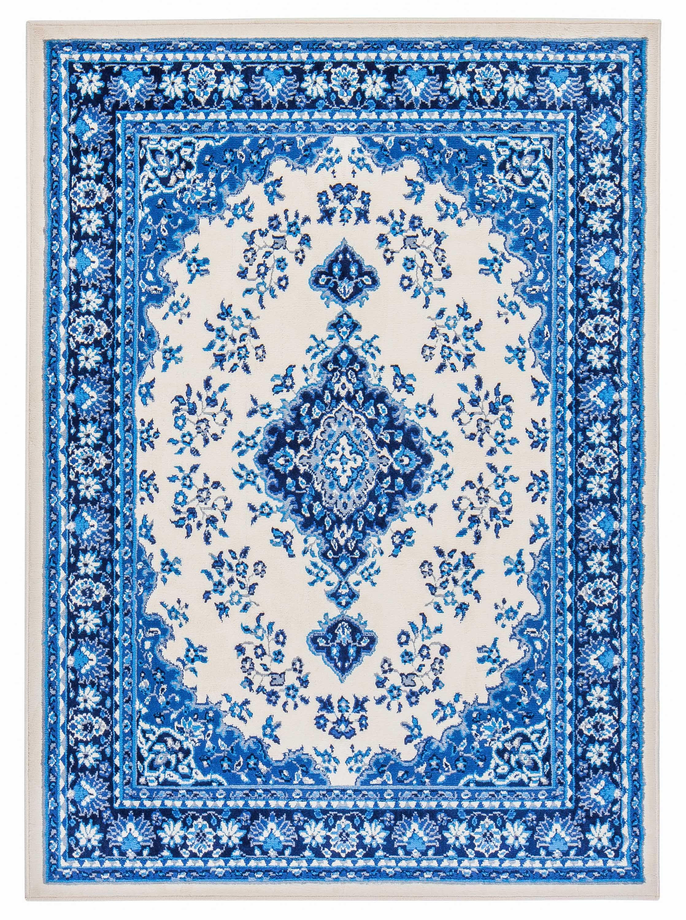 Global Persian Blue And White Medallion Rug Walmart Com