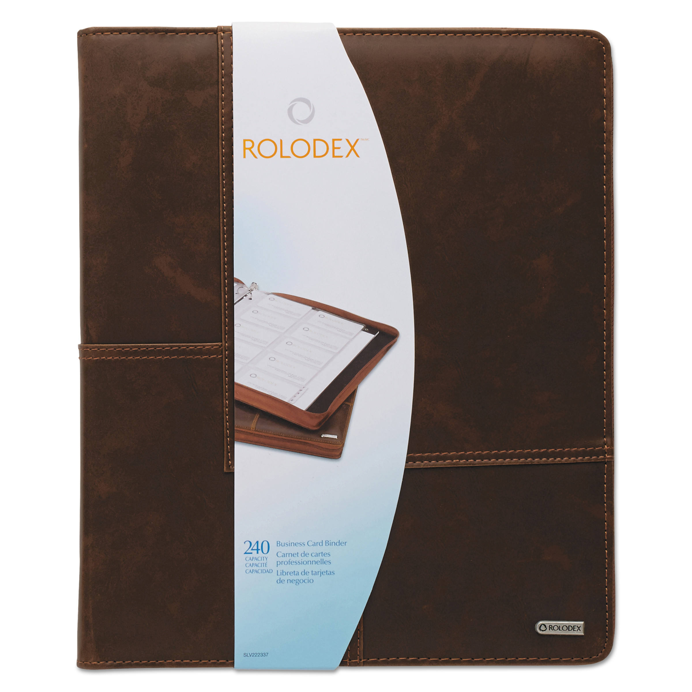 Rolodex Explorer Leather Organizer Business Card Book, 240-Card Cap ...