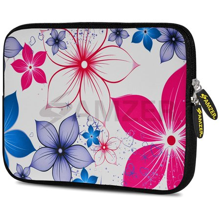 - Designer 10.5 Inch Soft Neoprene Sleeve Case Pouch for Samsung Galaxy Tab A 10.1 2016, Tab 4 10.1, LG G Pad X 10.1, ASUS ZenPad Z300M 10.1, Fire HD 10 Tablet - Five Petals Bloom