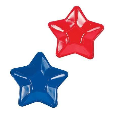 Fun Express - Star Shaped Dessert Plates (8pc) for Fourth of July - Party Supplies - Print Tableware - Print Plates & Bowls - Fourth of July - 8 Pieces](Fourth Of July Plates)