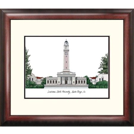 Louisiana State University Alumnus Framed - Antique Lithograph