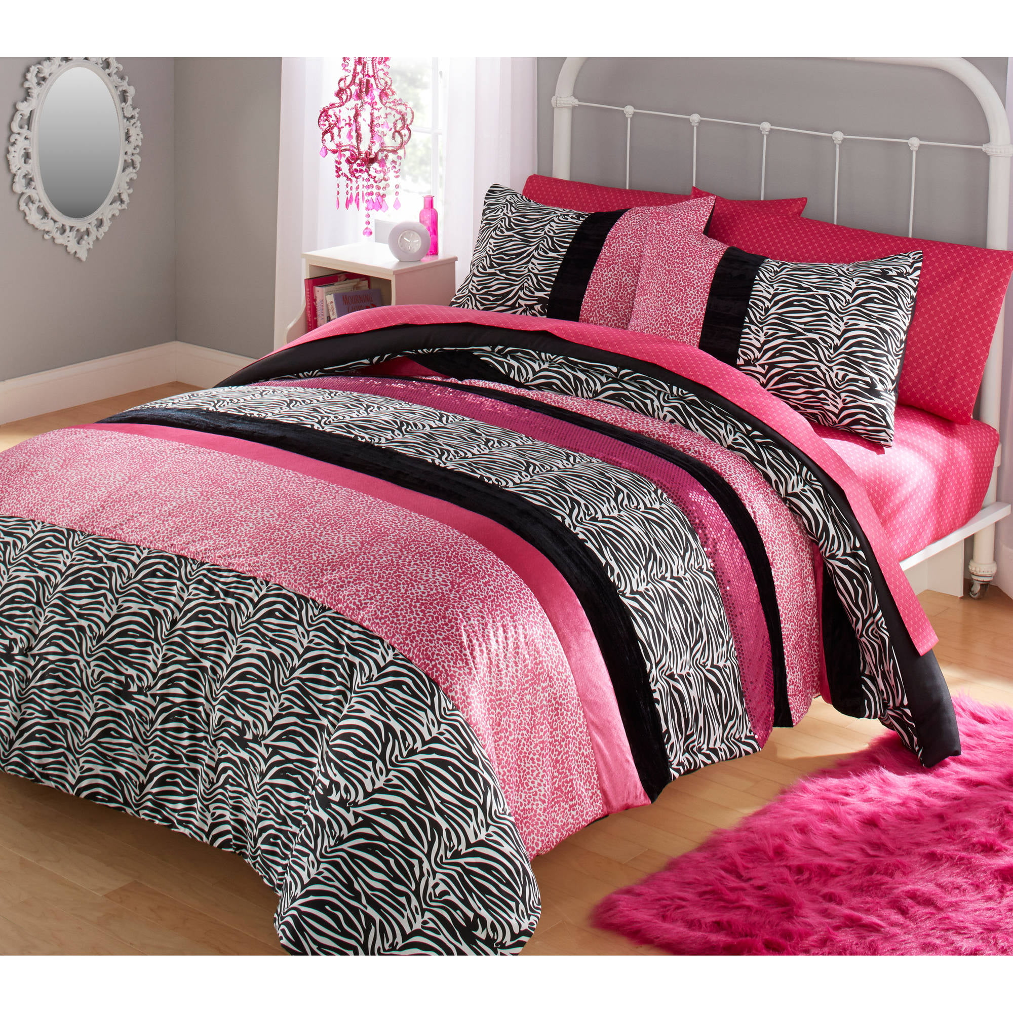 Your Zone Zebra Bedding Comforter Set - Walmart.com