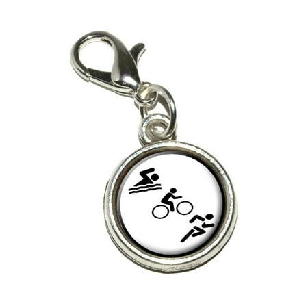 - Triathlete Swim Bike Run - Triathlon Bracelet Charm