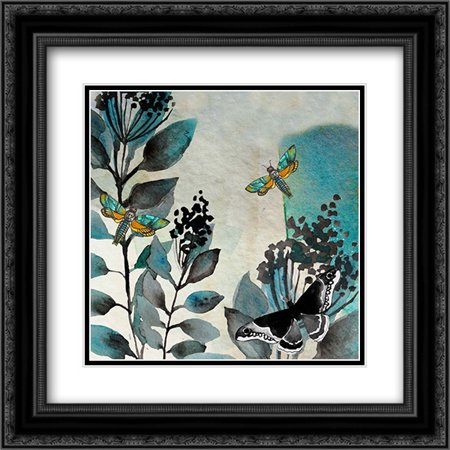Butteryfly Perspective 4 2X Matted 20X20 Black Ornate Framed Art Print By Boho Hue Studio