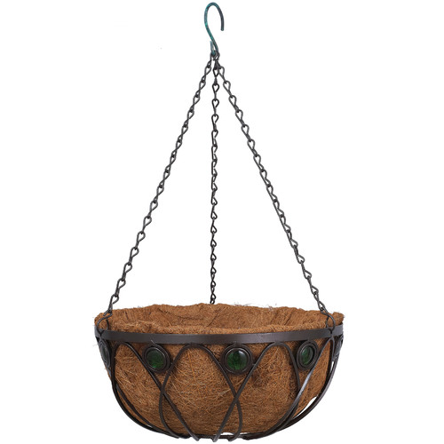 Arcadia Garden Products Emerald Series Metal Hanging Planter