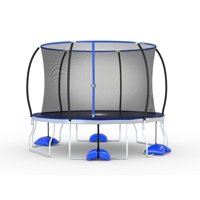 Trujump 12-Foot Trampoline with Enclosure and Spin-N-Light (Blue)