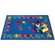 Joy Carpets Circus Elephant Parade Kids Area Rug
