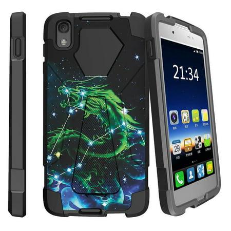 Case for Alcatel Idol 4 | Nitro 49 Hybrid Cover [ Shock Fusion ] High Impact Shock Resistant Shell Case + Kickstand - Dragon (Nitro Star)
