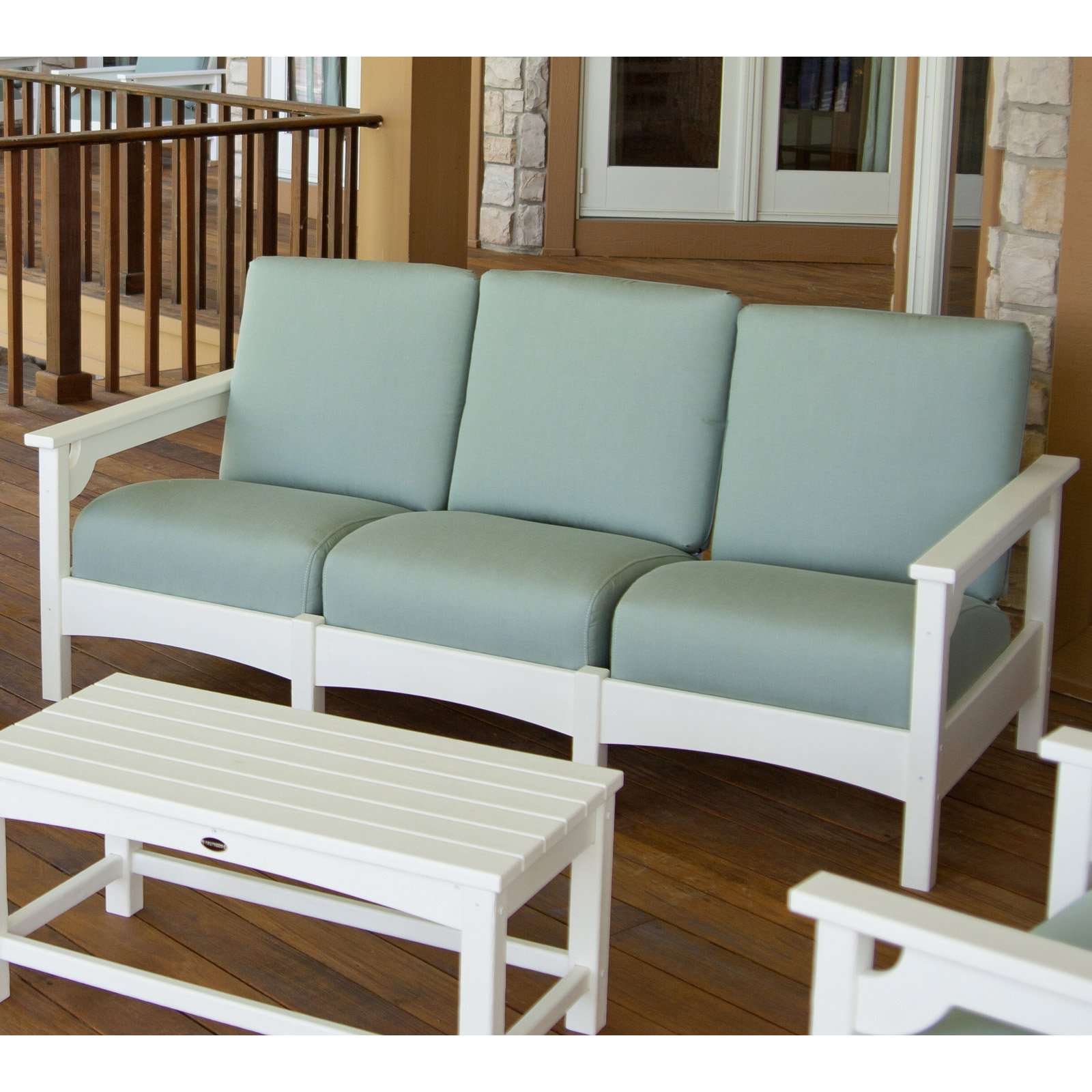 POLYWOOD® Club Sofa - White / Spa