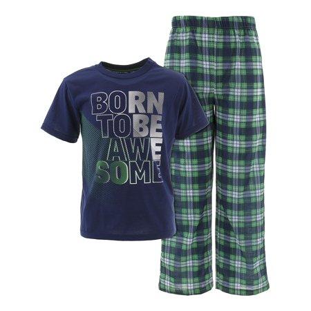 Sleep On It Boys Born To Be Awesome Navy Pajamas