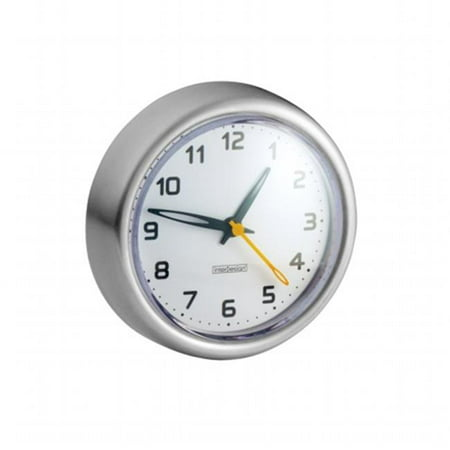 InterDesign 43580 Brushed Stainless Steel Suction Clock