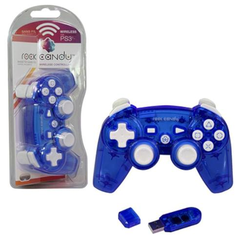 PDP PlayStation 3 Rock Candy PS3 Wireless Controller, Blue