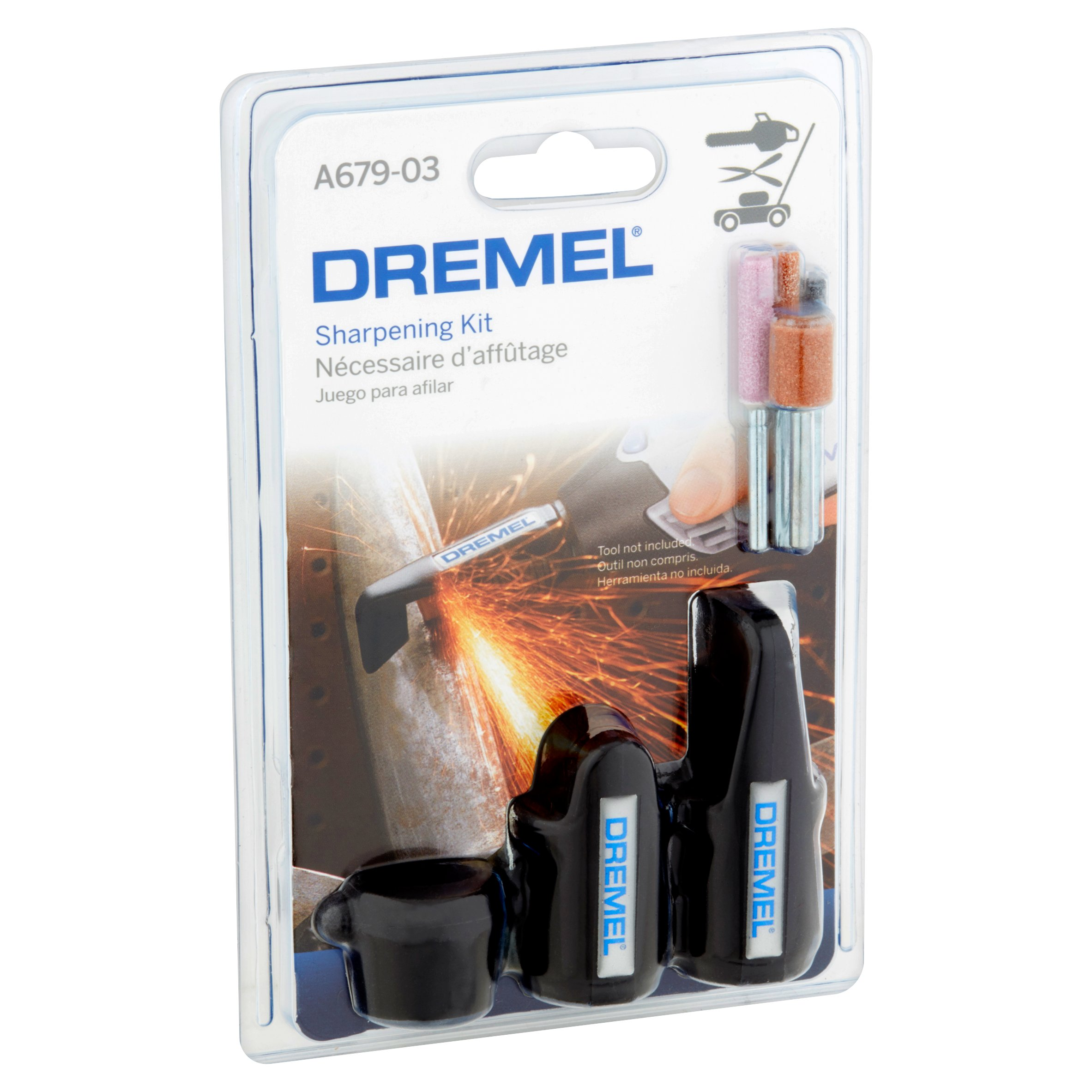 Dremel A679-03 Rotary Tool Sharpening Kit, 3 Attachments And