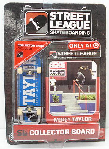 Street League Skateboarding Pro Series 1 Blue Skateboard Mikey Taylor Card by Street League