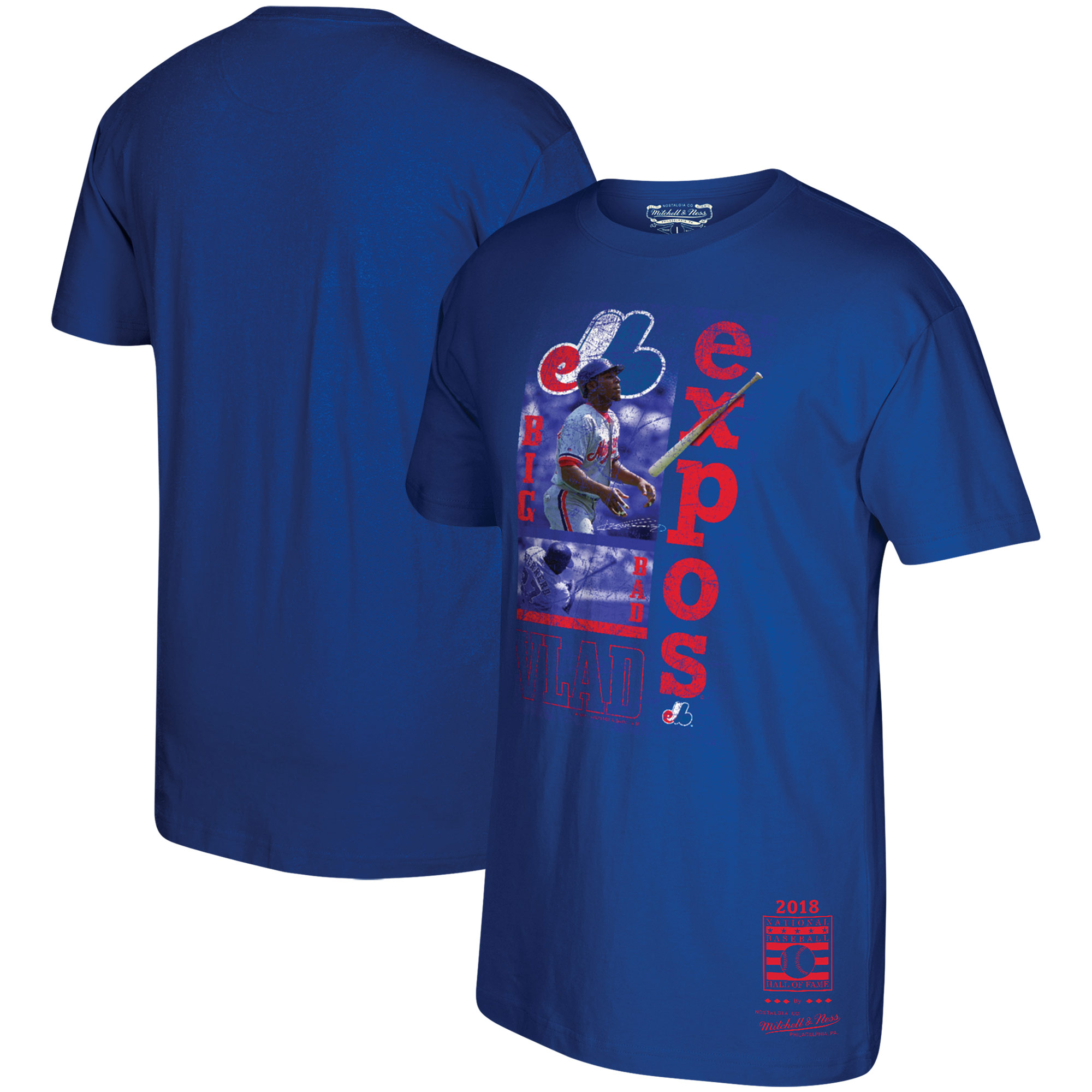 Vladimir Guerrero Montreal Expos Mitchell & Ness 2018 Hall of Fame Player Graphic T-Shirt - Royal