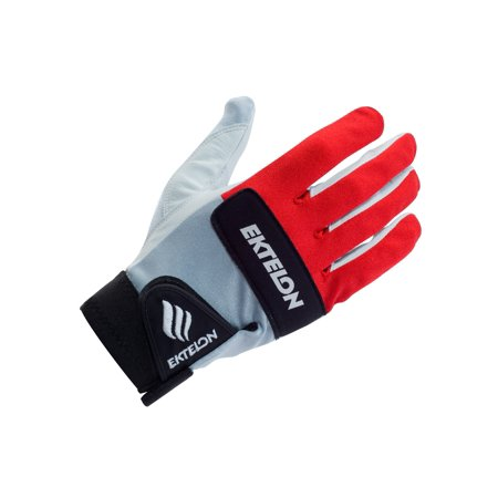 Ektelon Controller II Racquetball Glove (Red/White/Black, Left Hand, Large)
