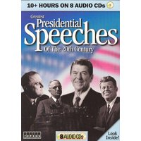Greatest Presidential Speeches of 20th Century on 8 Audio CDs - Reagan, Kennedy, Bush, Clinton, Taft, Hoover + More