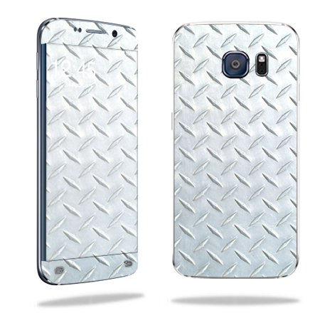 MightySkins Protective Vinyl Skin Decal for Samsung Galaxy S6 Edge wrap cover sticker skins Diamond Plate