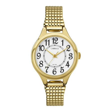 Carriage Women's Carolyn Watch, Gold-Tone Stainless Steel Expansion
