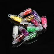 Fashion 12 Colors Nail Art Tips Stickers 3D Glitter Sequins Manicure DIY Set Hot
