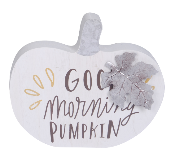 Harvest Good Morning Pumpkin Sign